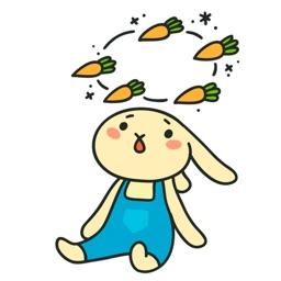 Funny Rabbit Emoji and Sticker