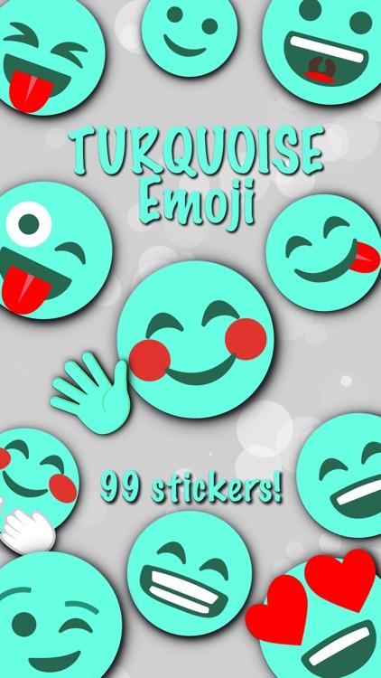 TURQUOISE Emoji • Stickers