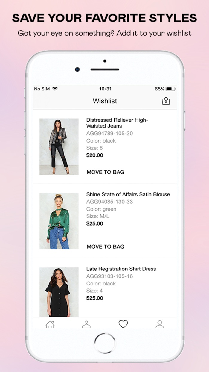 Nasty Gal – Clothing + Fashion Screenshot