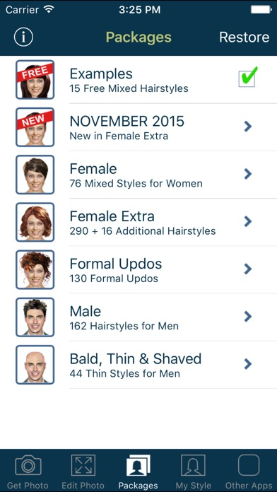 Hairstyle Try On review screenshots
