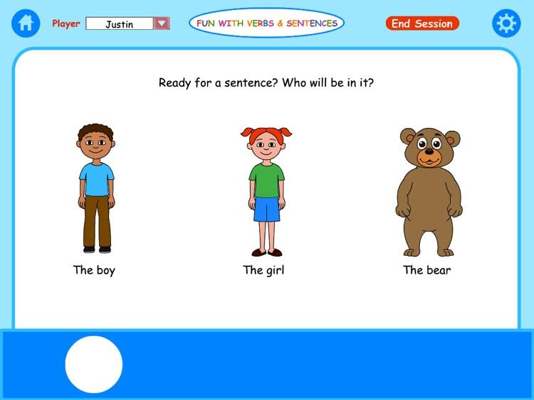 Fun with Verbs & Sentences HD screenshot-0