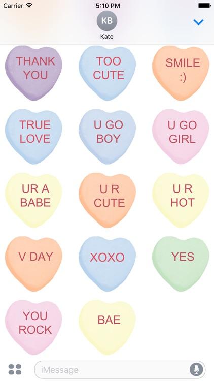 Candy Hearts 1 Stickers screenshot-4