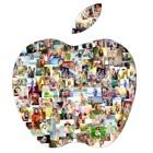 Collage de la forma: Arte de la foto, fabricante d icon
