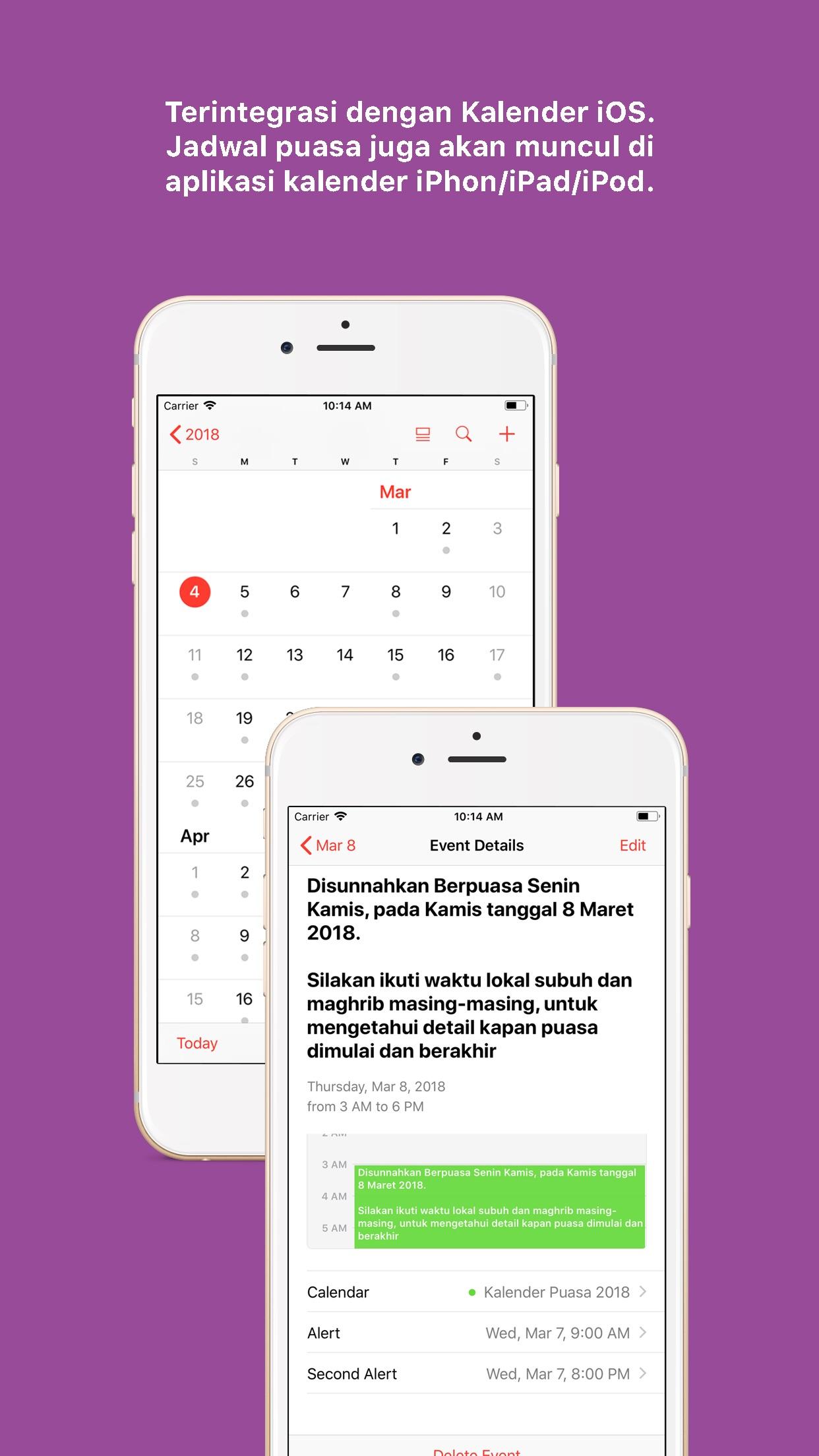 Kalender Puasa 2019 Screenshot