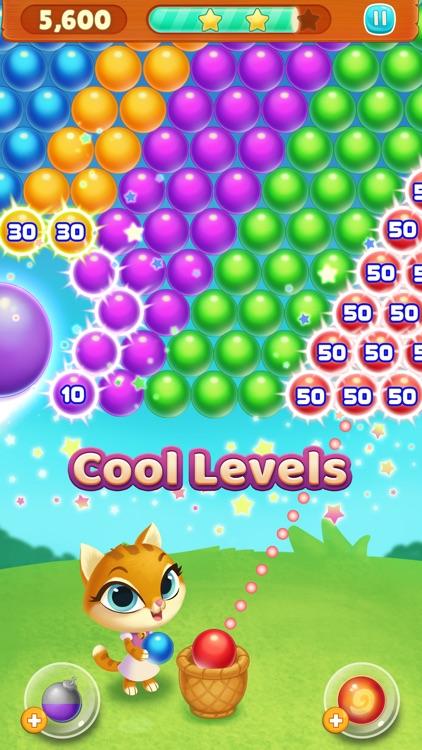 Kitty Pop Bubble Shooter screenshot-3
