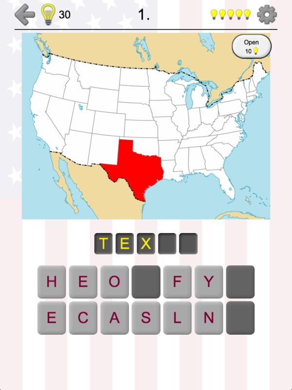50 US States - American Quiz - Online Game Hack and Cheat ...