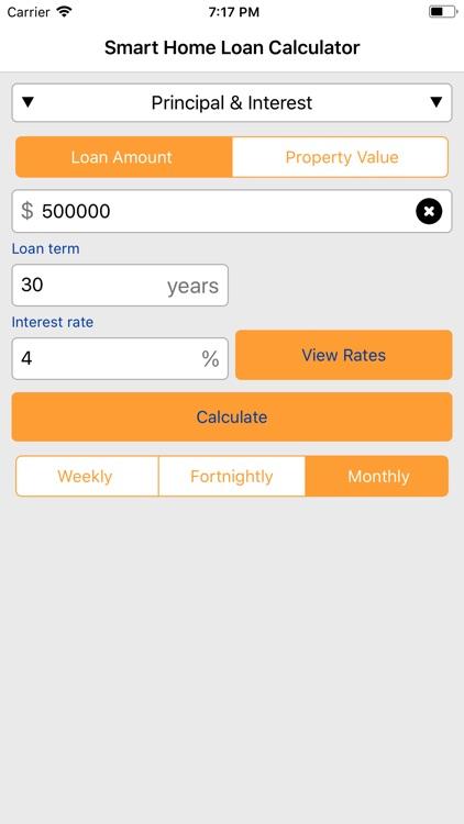 Smart Home Loan Calculator