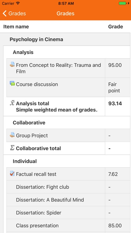 Moodle Mobile screenshot-4