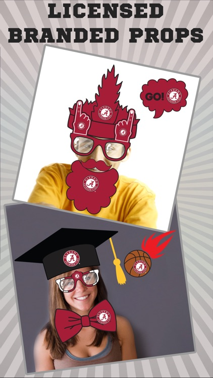 Alabama Crimson Tide Pro Photo Booth Stickers