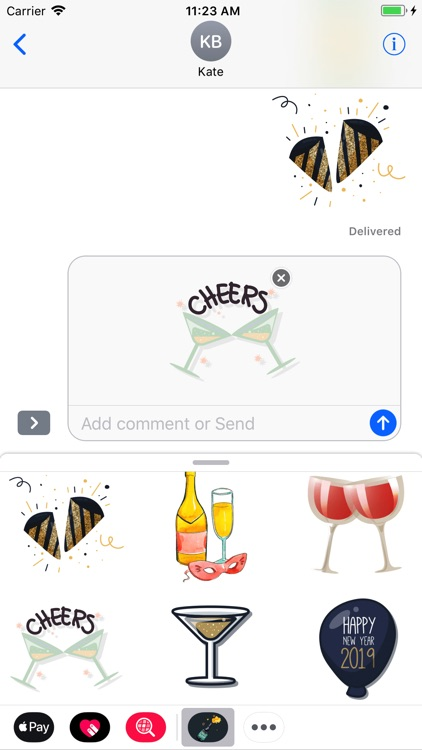 Party Champagne 2019 Stickers