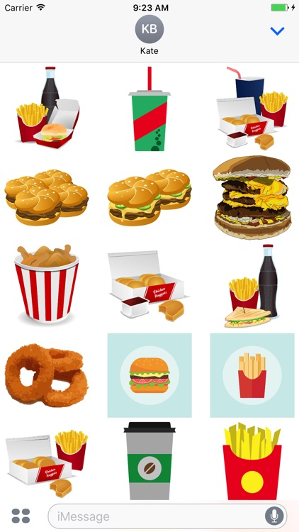 Fast Food Stickers: Tasty!