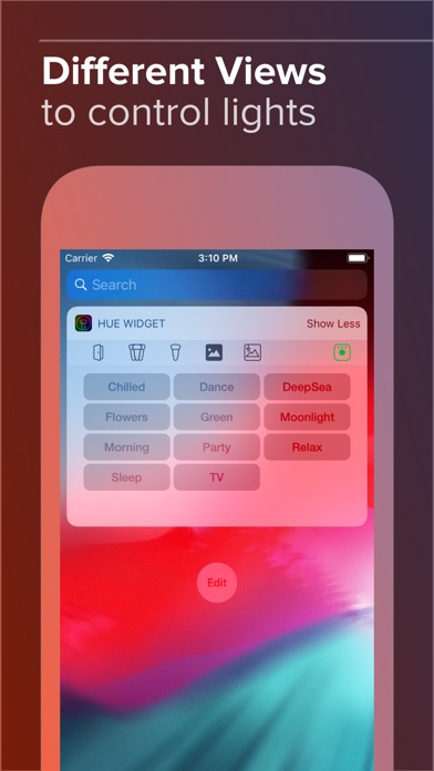 Hue Widget Screenshots