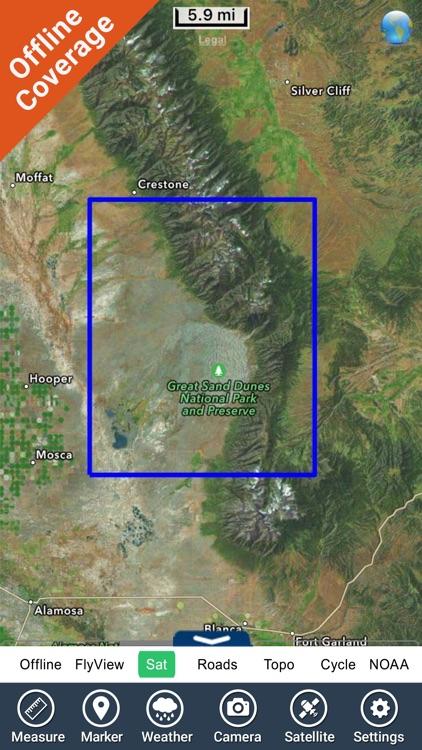 Great Sand Dunes National Monument GPS Map screenshot-4