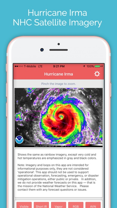 Hurricane Irma - NHC Satellite Imagery Tracker screenshot 1