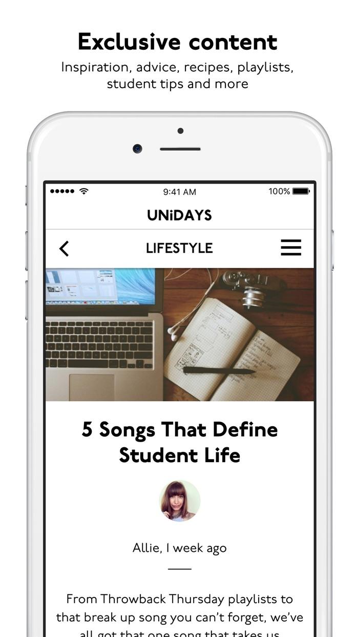 UNiDAYS: Student Deals Screenshot