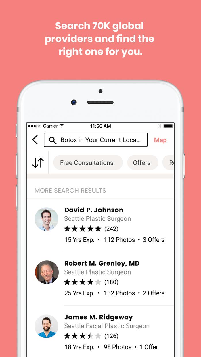 RealSelf: Treatments & Reviews Screenshot