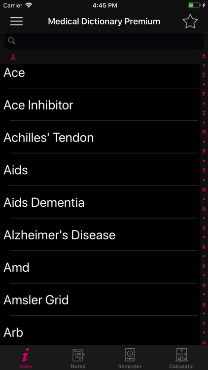 Medical Dictionary Premium screenshot-1