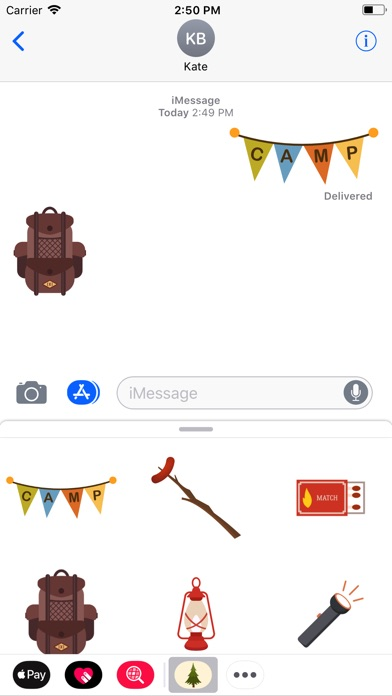 Screenshot for Camping Stickers in Greece App Store