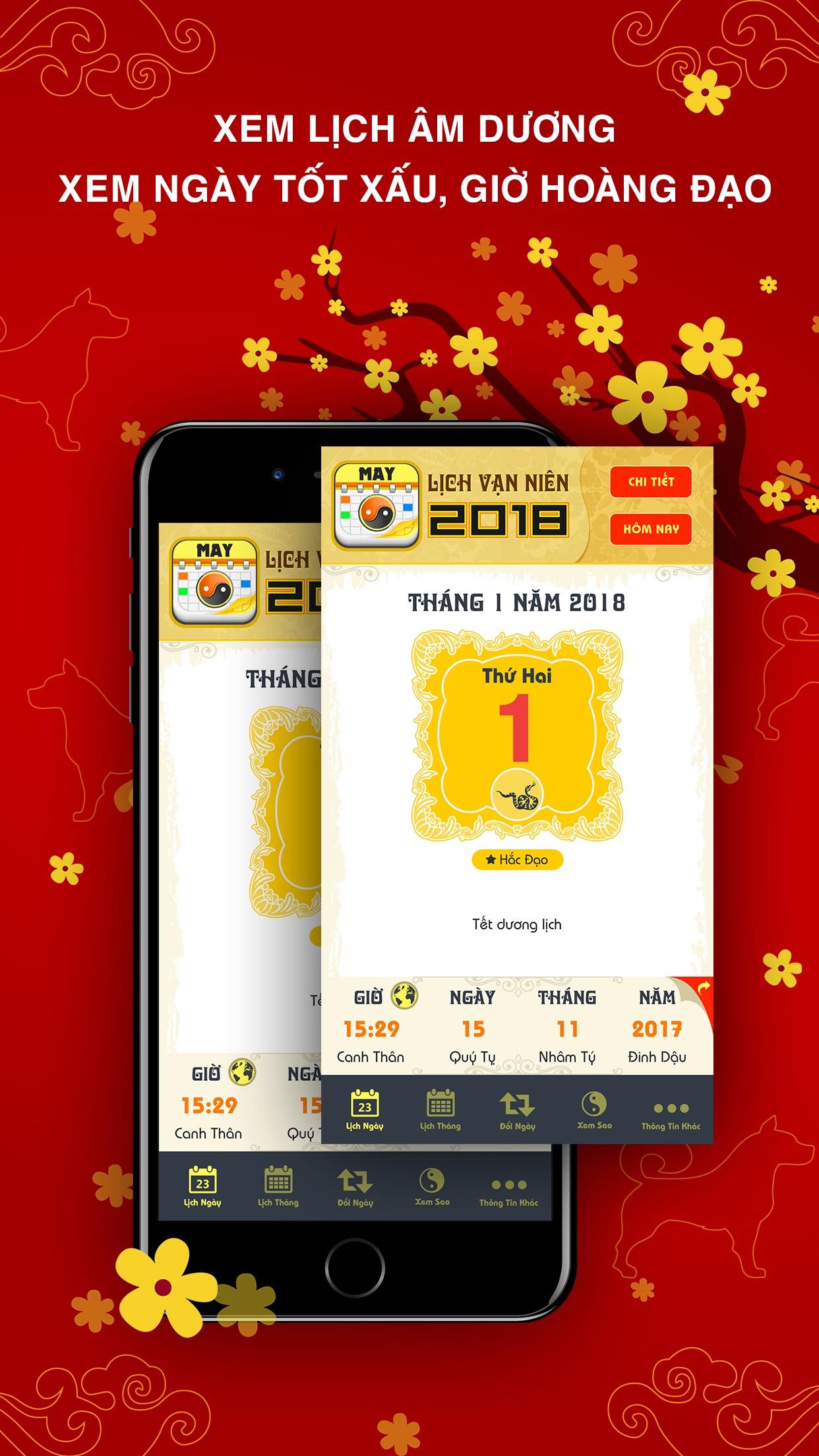 Lịch Vạn Niên 2018 Screenshot