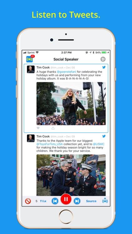 Social Speaker for Twitter screenshot-0