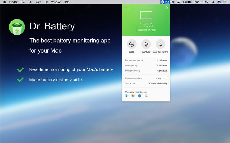 Dr. Battery: Health Monitor скриншот программы 1