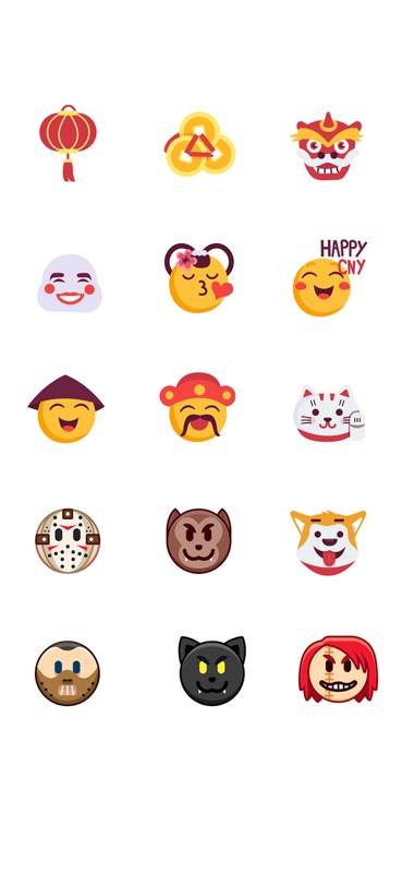 holidaymoji is the unique app which is filled with emojis and stickers for special occasions like new year christmas halloween and many other