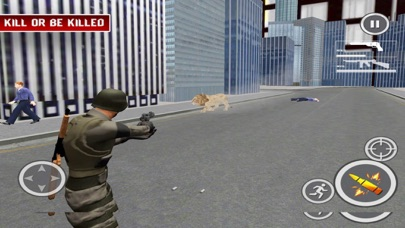Lion Attack City:Shoot Mission screenshot one