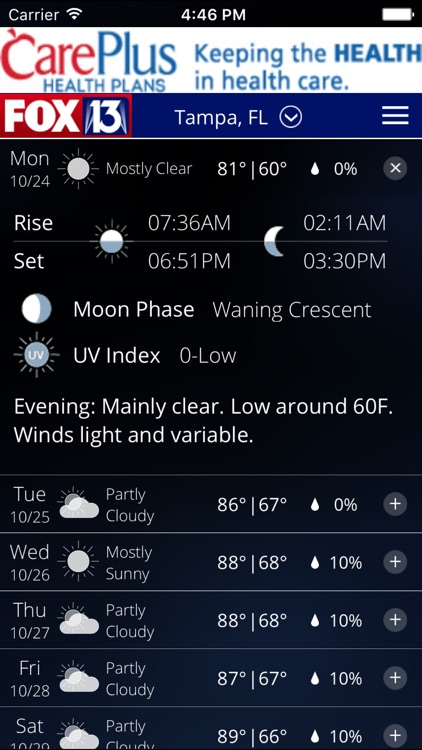 SkyTower Radar app from FOX 13 screenshot-3