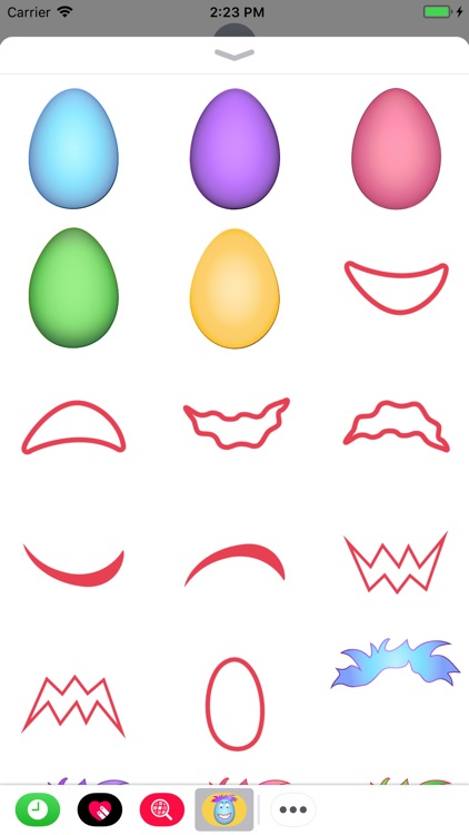 EGG Face Stickers
