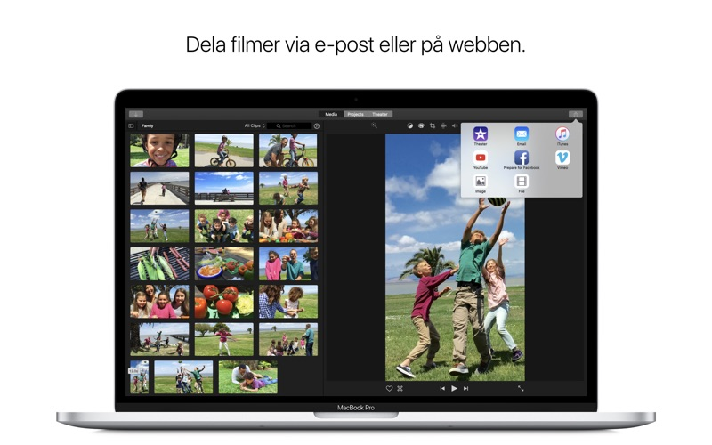 Skärmdumpar Mac OSX