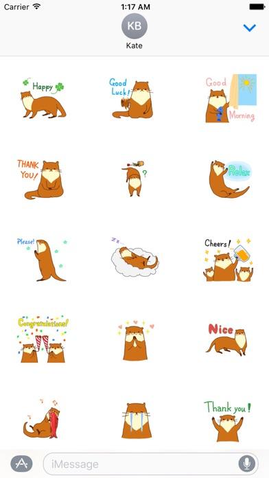 Cute Otter - Ottermoji Sticker screenshot 1