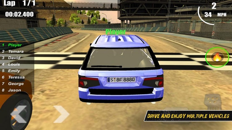 Racing SUV Car Hill Road