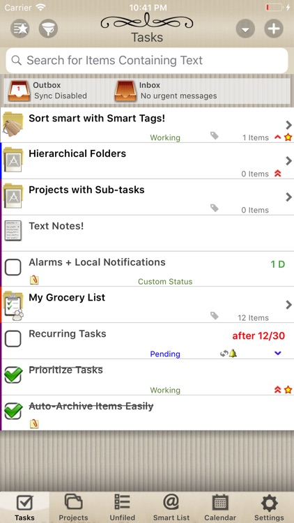 Alloy Tasks and To Do