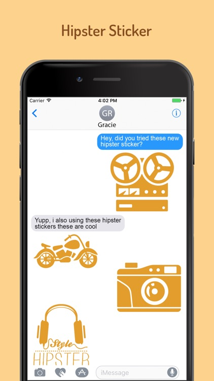 Hipster Stickers for iMessage screenshot-3