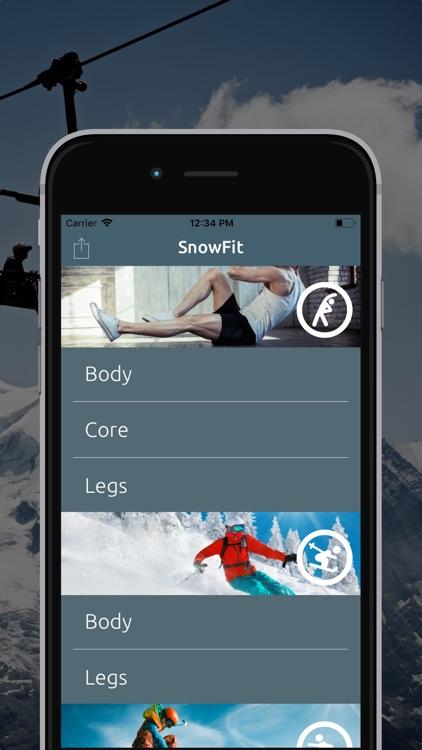 SnowFit - Ski and Snowboard