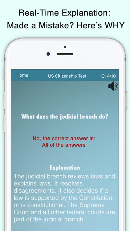 Citizenship Test with Audio screenshot-2