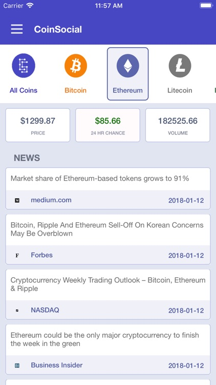 Coin Social - Crypto Tracker screenshot-1