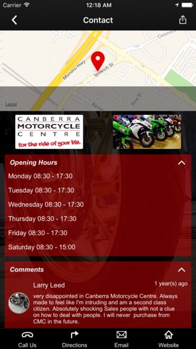 Canberra Motorcycle Centre screenshot two