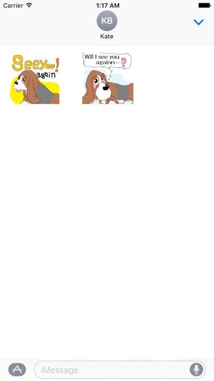 Animated Cute Basset Hound Dog