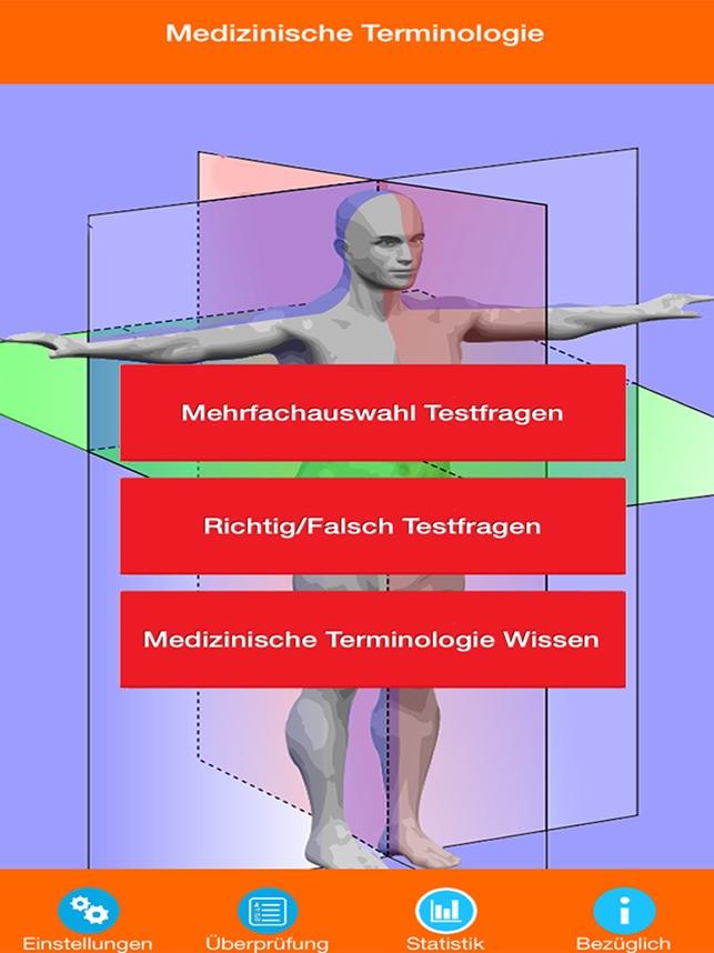 Medizinische Terminologie Test im App Store