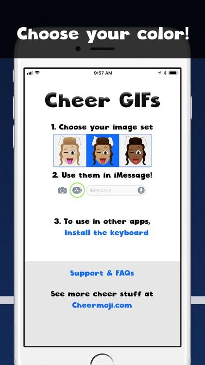 Cheer GIFs Cheerleading Emojis