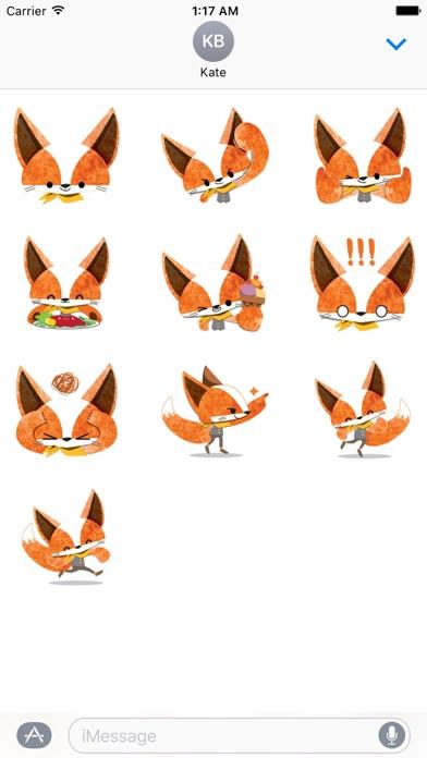Adorable Fox FoxMoji Sticker screenshot 3