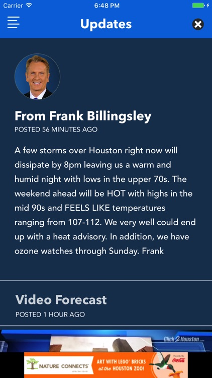 Frank's Forecast Weather App from KPRC 2