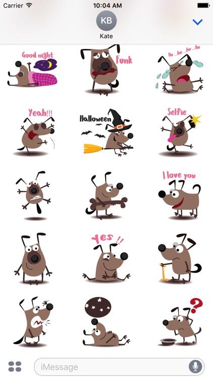 chocolate dog emoji & stickers