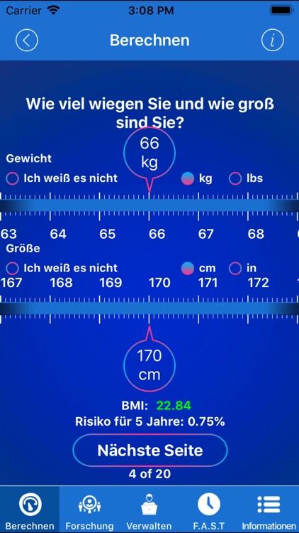 Stroke Riskometer German Pro screenshot-4