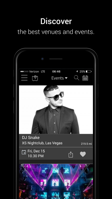 SocialNightlife — Discover local events, music shows, concerts, festivals, bars and more on the social nightlife network screenshot