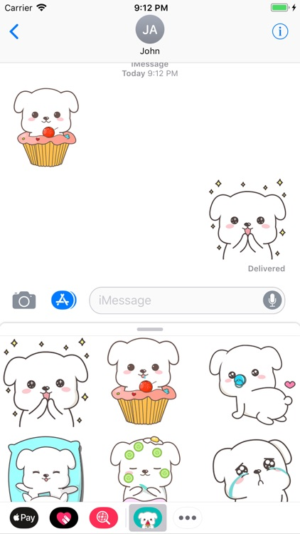 Chubby Puppy Animated Stickers