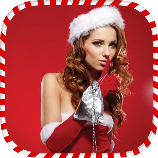 Christmas Makeup-Festival Photo Frames & Santa Hat