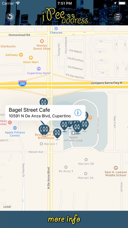 iPee Address - Restroom Finder