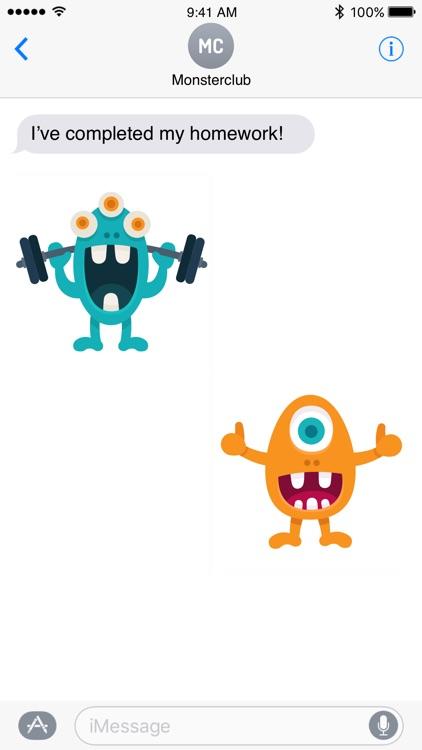 Happy Monster stickers